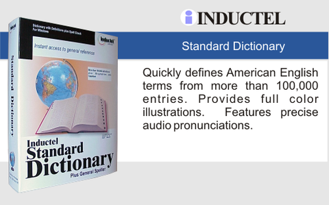 Inductel Standard Dictionary Software Web App, Version 17