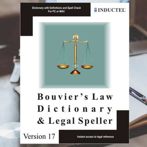 Inductel's Bouvier's Law Dictionary.  It's a software app containing the complete Bouvier's Law Dictionary, verbatim.