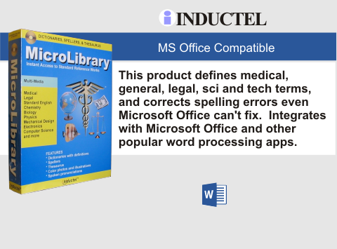 Inductel MicroLibrary Dictionary Software Combo Package DVD, Version 17, Plus Combo Speller