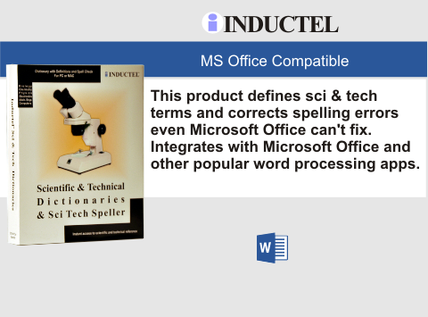 Inductel Scientific and Technical Dictionary Software CD, Version 17, Plus Sci Tech Speller