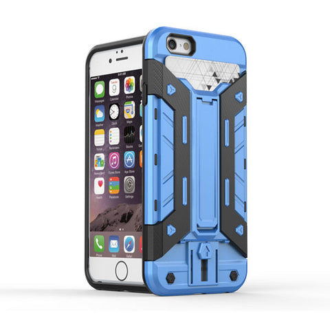 Blue Shockproof Hard Back Case