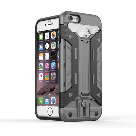 Grey Shockproof Hard Back Case