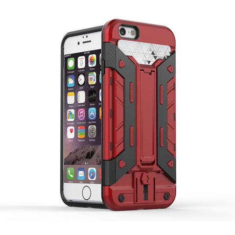 Red Shockproof Hard Back Case