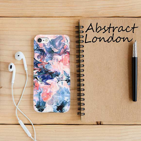 Abstract Tie Dye Marble iPhone Case Cover