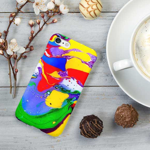 Abstract Color Water Marble Phone Case