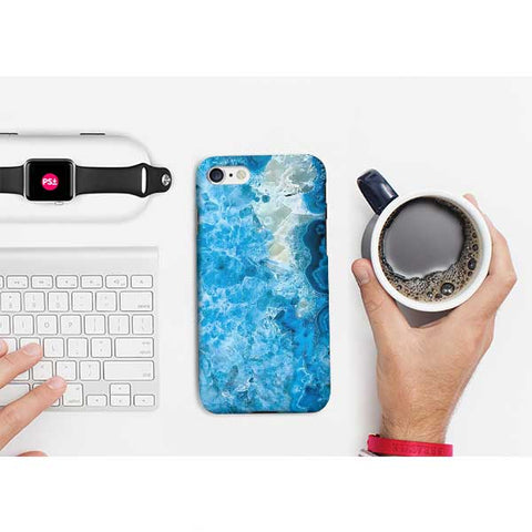 Blue Abstract Marble Phone Case