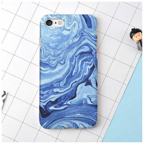 Blue Wave Marble Design Phone Case
