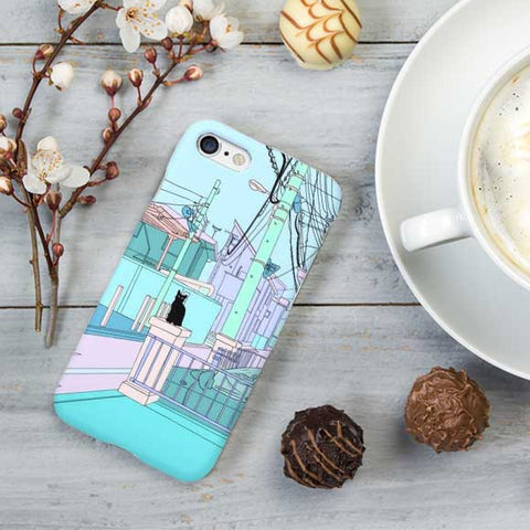 Cat illustration Design  Phone Case