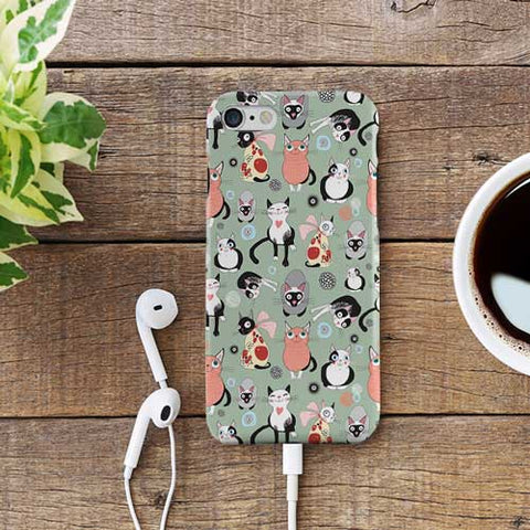 Cat Pattern Design Phone Case Cover