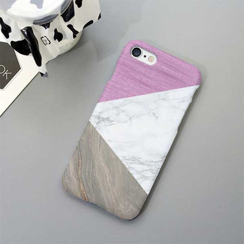 Geometric Purple Marble Phone Case