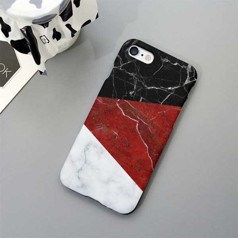 Geometric Marble Design Phone Case