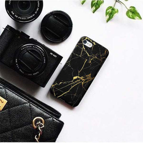 Gold Black Marble Phone Case