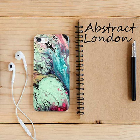Green Abstract Marble Design Phone Case