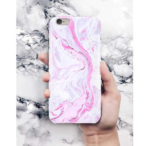 Light Pink Abstract Marble Phone Case