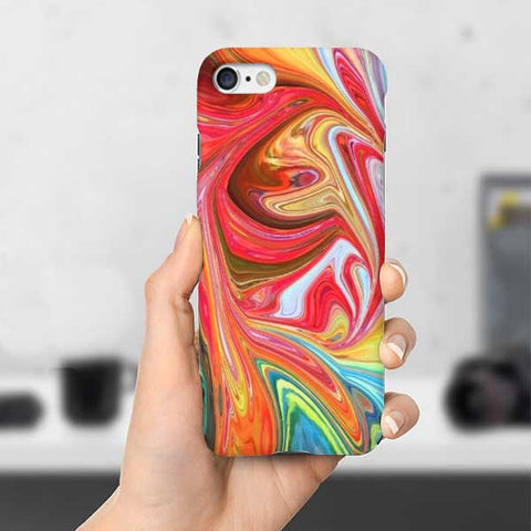 Red Marble Colorful Phone Case