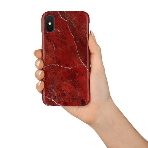 Red Marble Design Phone Case
