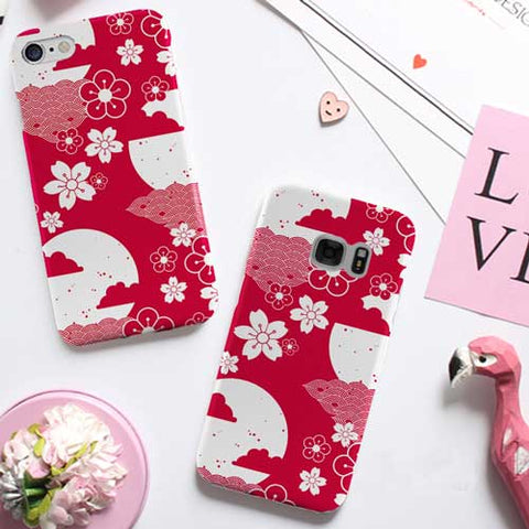 Red cherry blossom Design Phone Case Cover