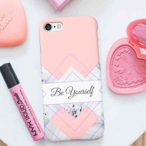 Rose Gold Marble Phone Case be yourself design