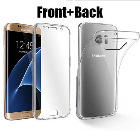 Clear Silicone 360 D Protection Case for Samsung Galaxy