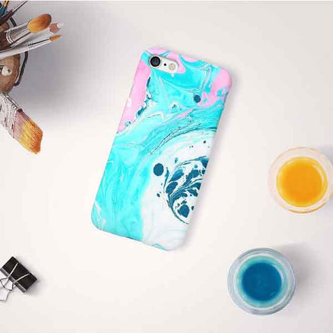 Turquoise Marble Design Phone Case
