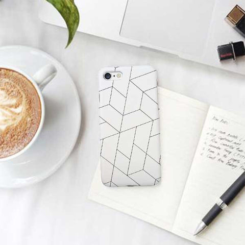 White Pattern Phone Case