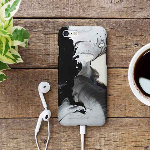 Abstract Black Marble Phone Case
