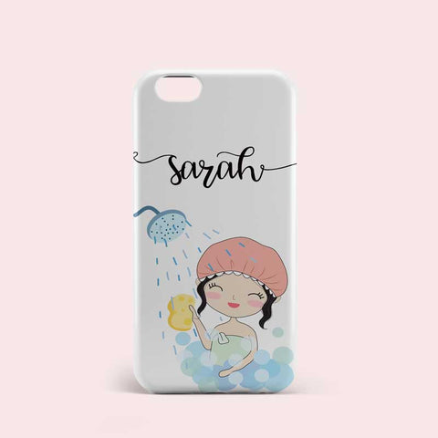 Bathing Girl Design Personalised Phone Case