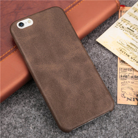 Brown leather Slim iPhone case cover