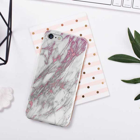 Faux Rose Marble Phone Case Cover