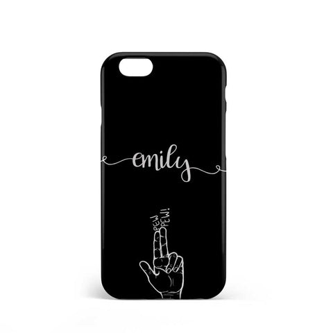 Girly Personalised Black color phone case