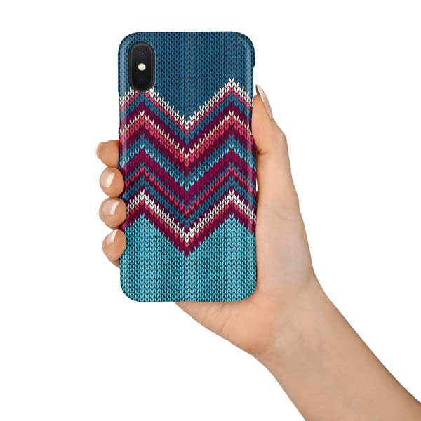 Knitted Pattern Design Print Phone Case Abstract London