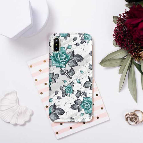 Marble Rose Design Phone Case