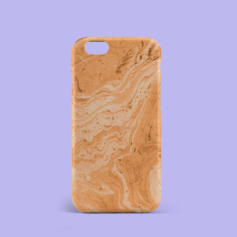 Light Orange Marble Phone Case
