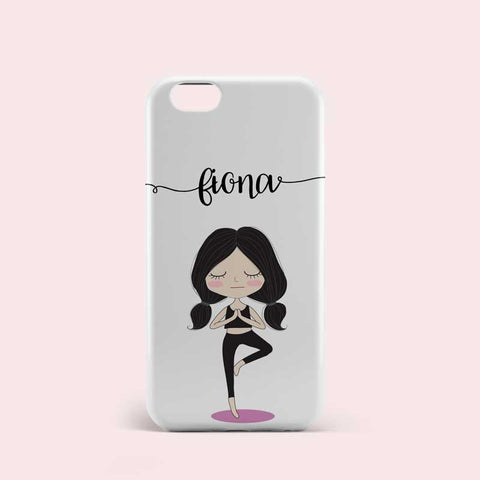 Yoga Girl Design Personalised Phone Case Cover