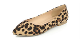 Womens Chic Leopard Print Pointy Flats