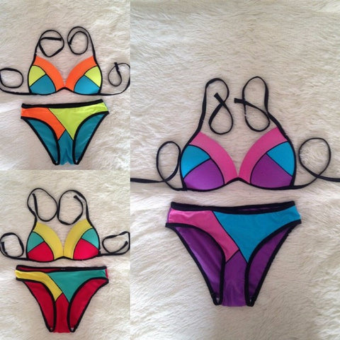Beautiful Design Multicolor Swimsuit Bikini