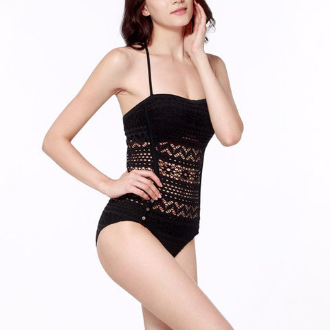 Beautiful Lace Design One-Piece Monokini Swimsuit