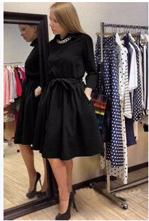 Beautiful Retro Long Sleeve Elegant Dress