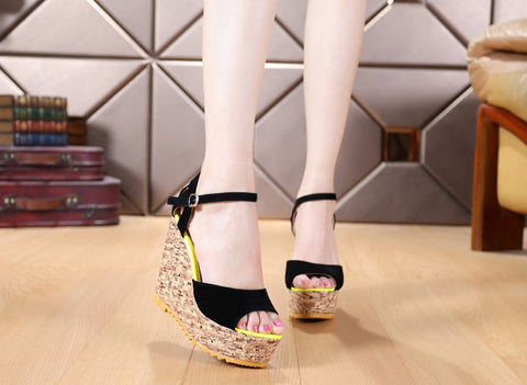 Stunning Open Toe Stylish Platform Wedges