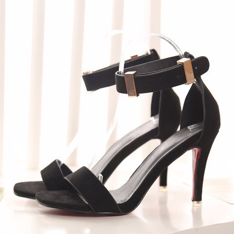 Classy Buckle Ankle Strap Sandal Stylish Heels