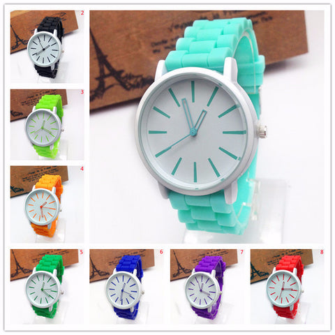 Cool Casual Simple White Face Watch