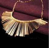 Elegant Womens Fan Necklace