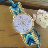Retro Fashionable Knit Bracelet Watch