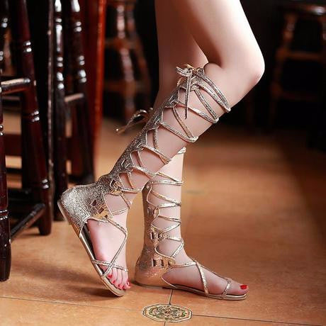 Trendy Gladiator Summer High Strap Sandals