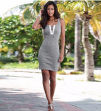 Lovely Lace Slim Hip Grey Casual Dress