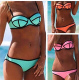 Beautiful Patchwork Trendy Swimsuit Bikini