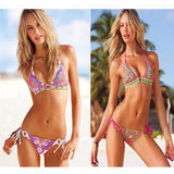 Stunning Print Design String Swimsuit Bikini