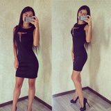 Stunning Slim Hip Open Chest Trendy Dress
