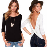 Stylish Cross Halter Loose Stylish Top