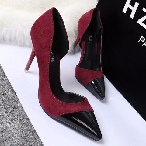Stylish Point Toe Trendy Work Party Heels